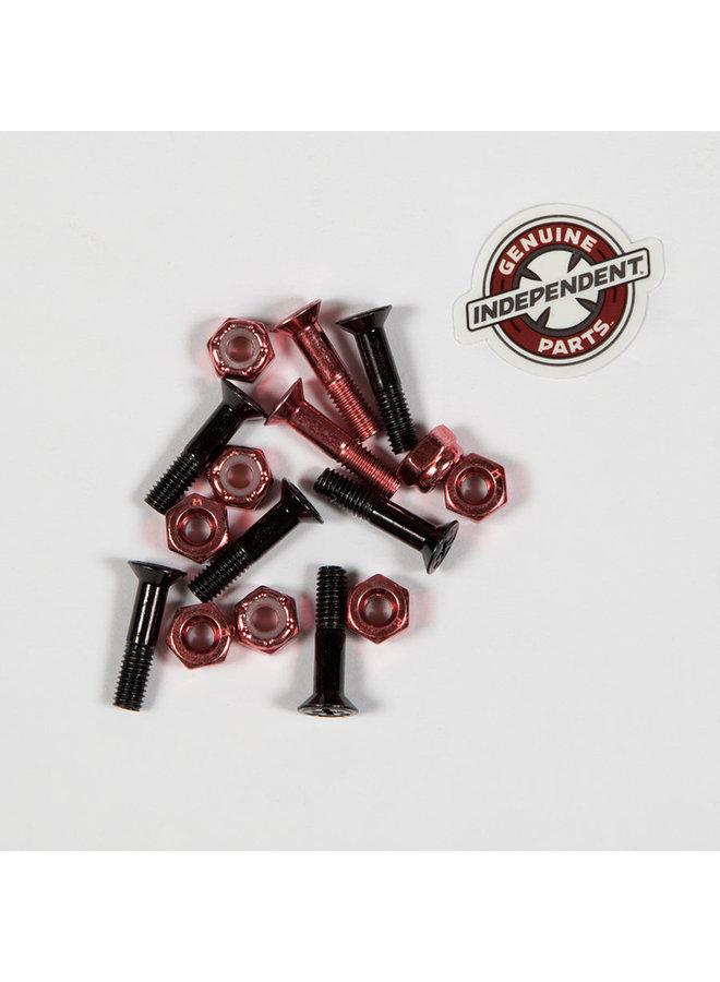"""7/8"""" Black Red Phillips Skateboard Hardware"""