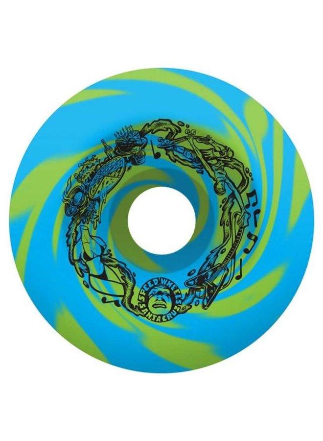 Vomits Blue Green 97A 60mm Skateboard Wheels