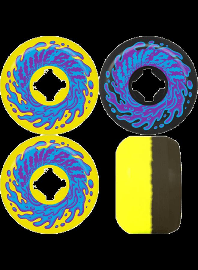 Double Take Yellow Black 97A 53mm Skateboard Wheels