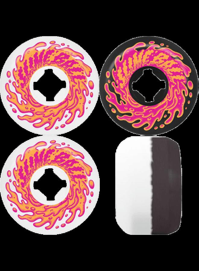 Double Take White Black 97A 56mm Skateboard Wheels