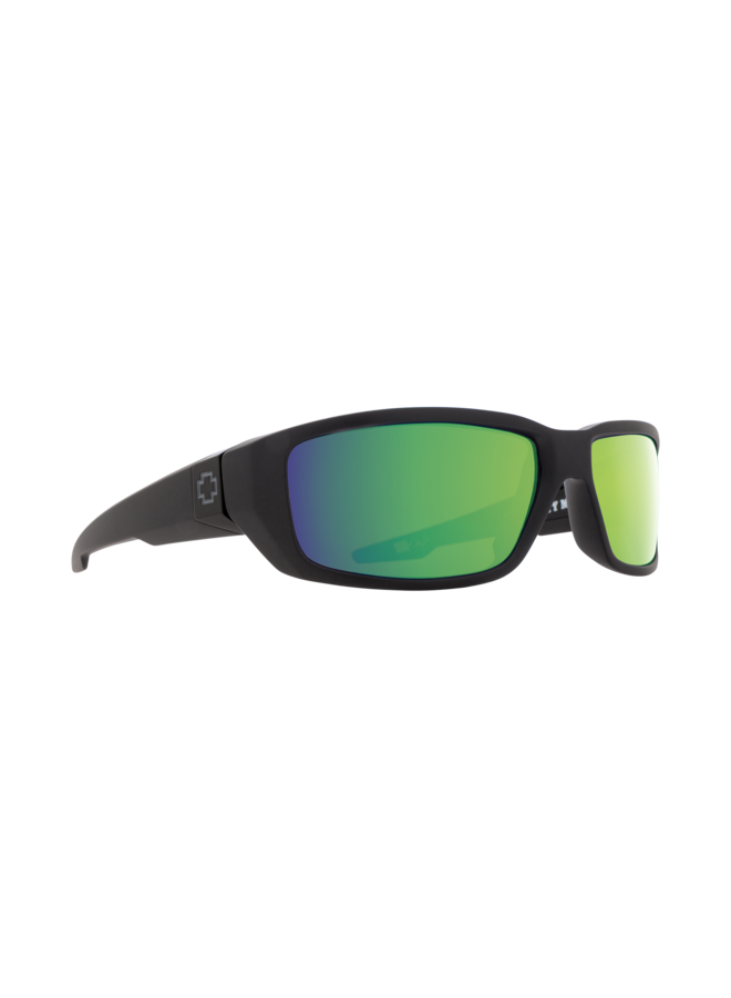 Spy Dirty Mo Sunglasses Matte Black w/ HD+ Bronze Polarized Green Spectra Mirror Lenses