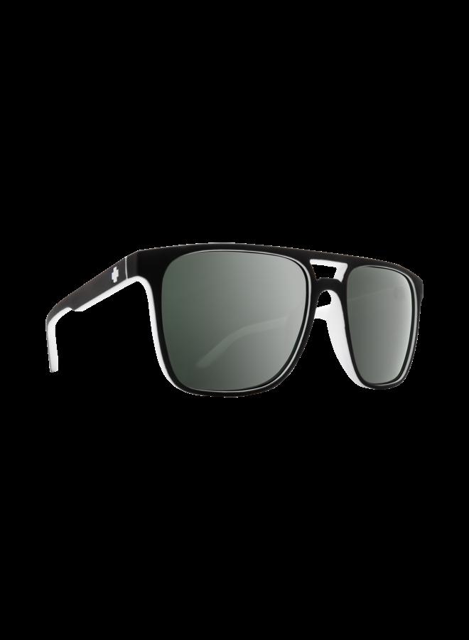 Spy Czar Sunglasses Whitewall w/ Happy Gray Green Platinum Spectra Lenses