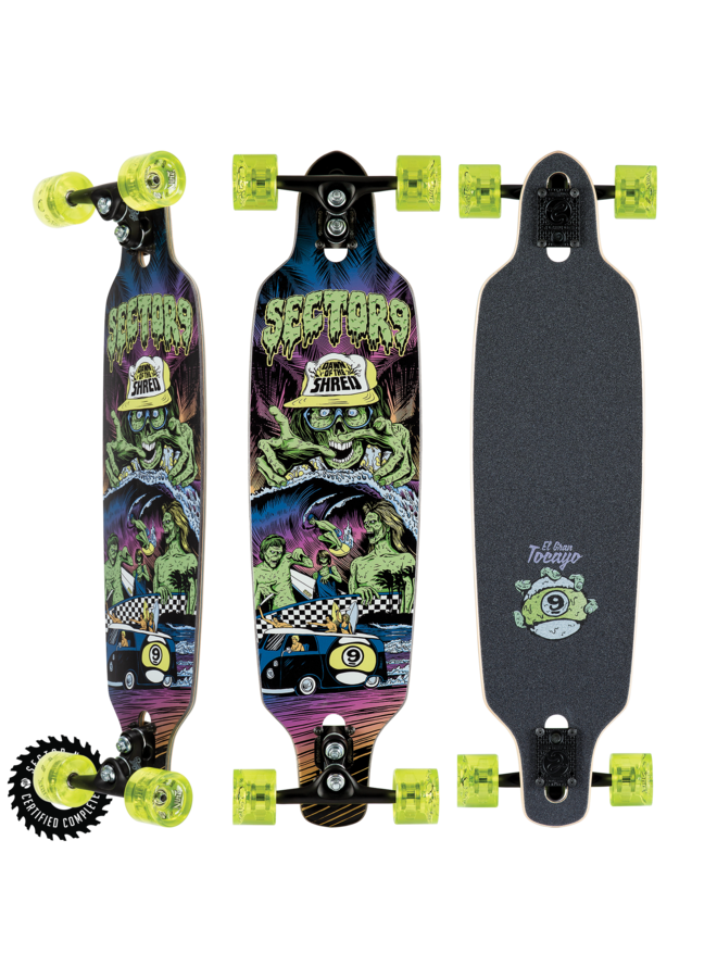 "Dawn of the Shred 34"" Longboard Complete"