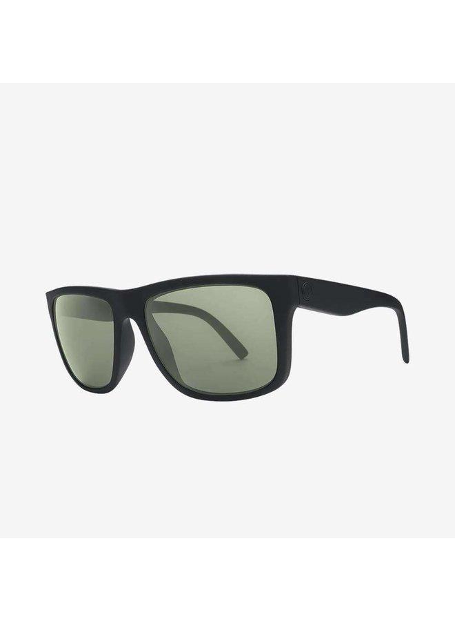 Swingarm XL Matte Black Sunglasses w/ Grey Lenses