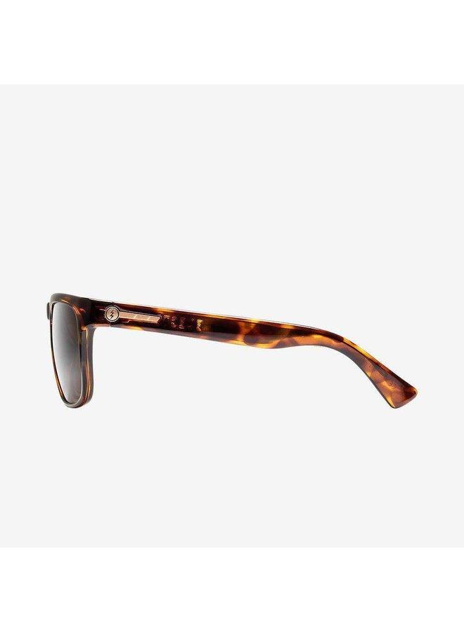 Knoxville Gloss Tort Sunglasses w/ Polarized Bronze Lens