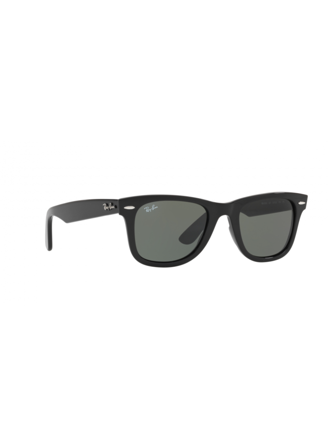 Wayfarer Black Sunglasses w/ Green Lens