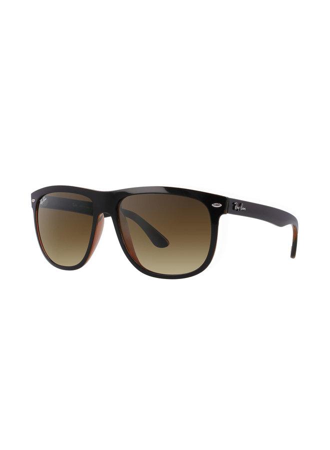 Boyfriend Black Brown Sunglasses w/ Brown Gradient Lens