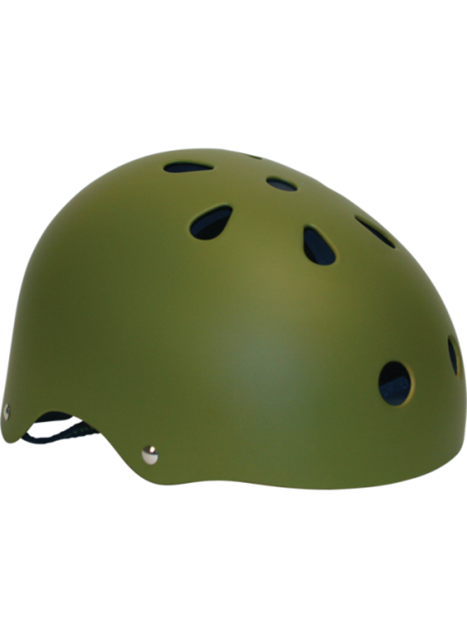 Industrial Skateboard Helmet - Army Green