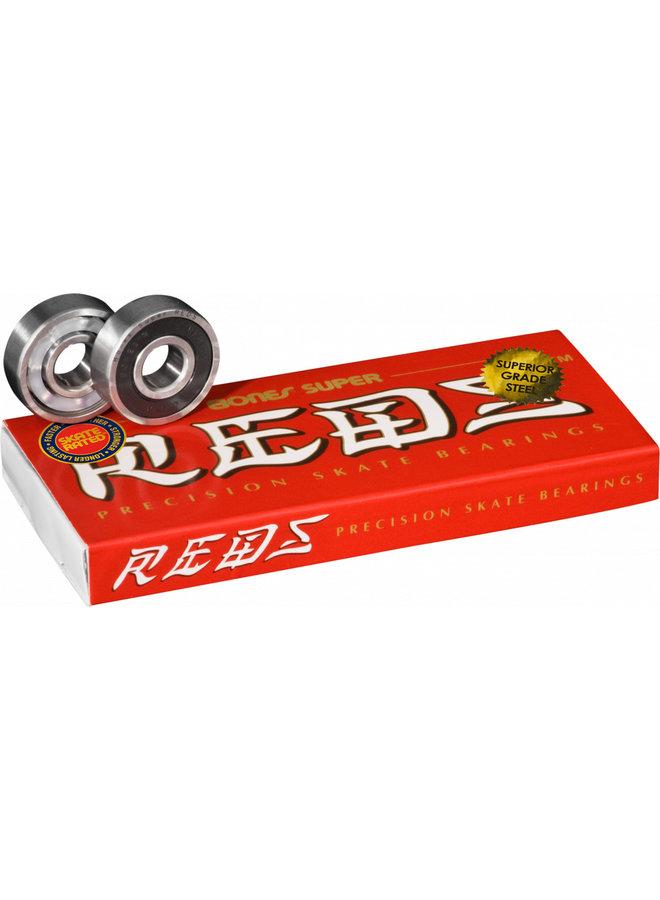 Bones Super Reds Skateboard Bearings - Set of 8