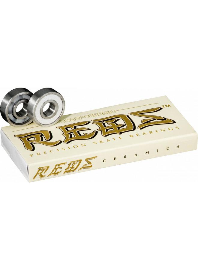 Bones Reds Ceramic Skateboard Bearings - Set of 8