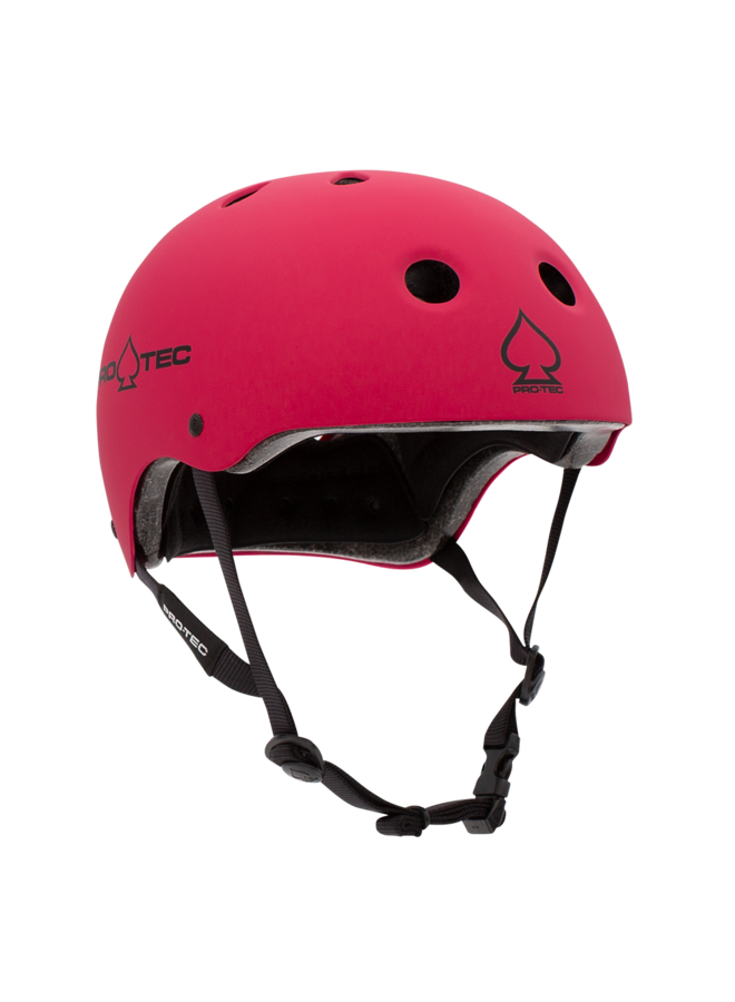 Classic Skateboard Helmet - Matte Pink