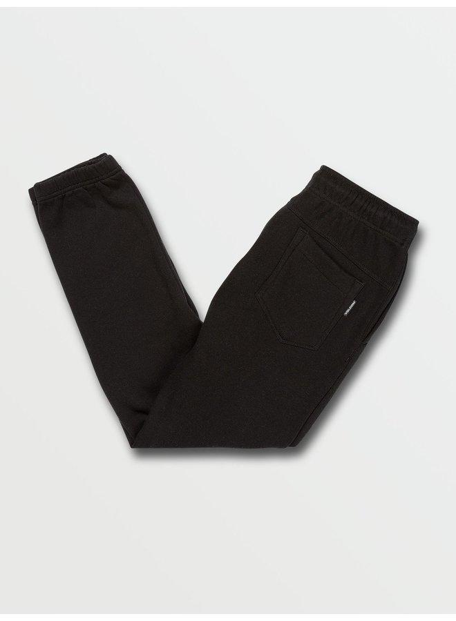 Big Boys Stone Stack Fleece Pants - Black