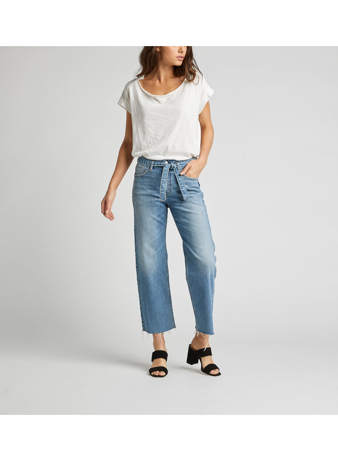 Tied And Wide Jeans Indigo