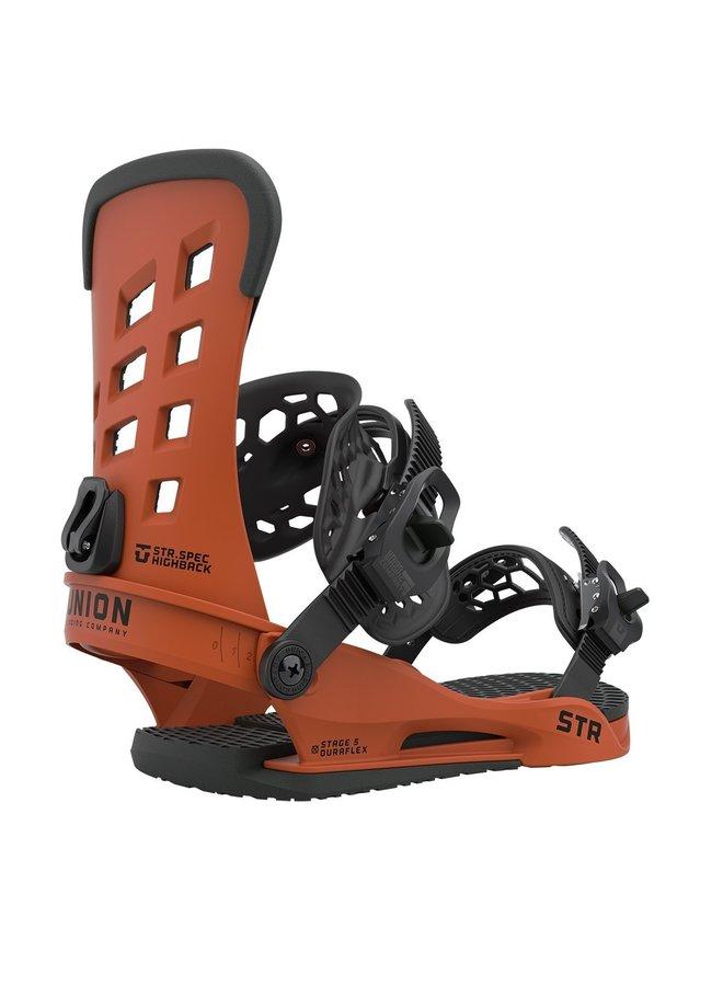 2021 STR Burnt Orange Snowboard Bindings
