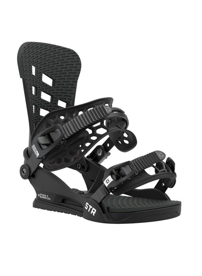 2021 STR Black Snowboard Bindings