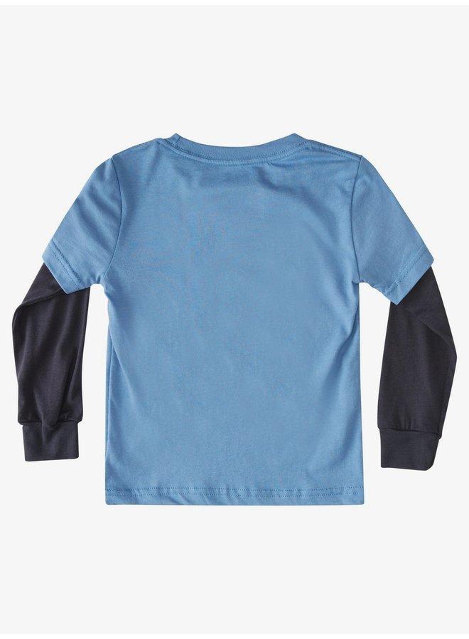 Boy's 2-7 Champ Chimp Tee - Blue Yonder