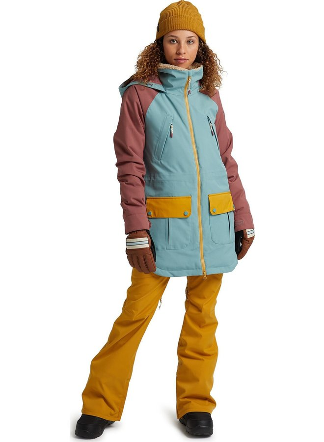 Women'S Burton Prowess Jacket - Trellis/Rose/Gold