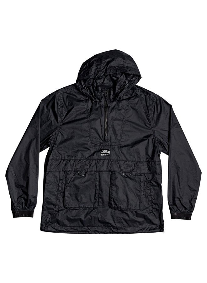 DC Men's Men's Mellow Water-Resistant Windbreaker: Black (Medium)