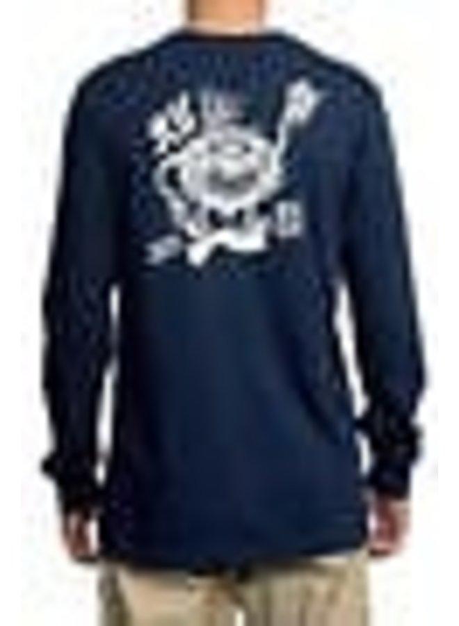 RVCA Mens Graphic Long Sleeve Crew Neck Tee Shirt