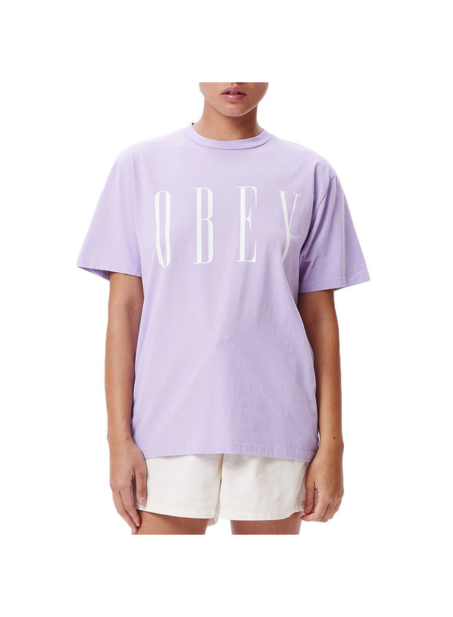 Obey Women's New Choice S/S Tee-Lavender
