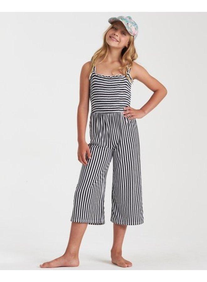 Billabong Girls Shore Enough Jumpsuit-Black/White