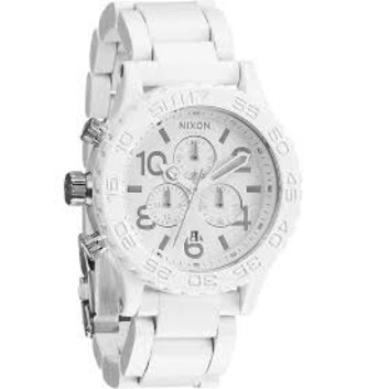 NIXON WATCHES 42-20 CHRONO ALL WHITE/SILVER