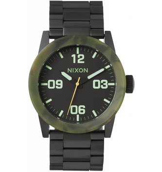 NIXON WATCHES PRIVATE SS: MATTE BLACK/CAMO