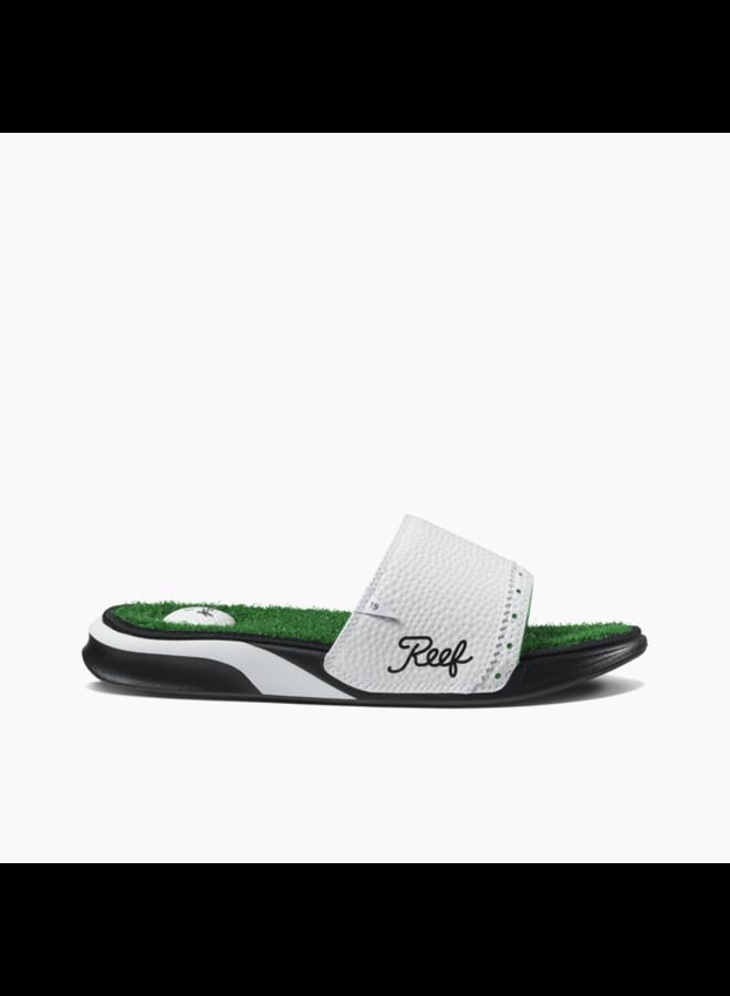 Reef Mens Sandals Mulligan Slides-Green/White