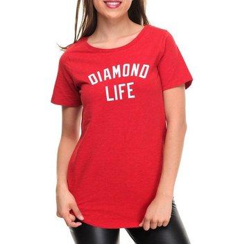 DIAMOND LIFE SCALLOP TEE