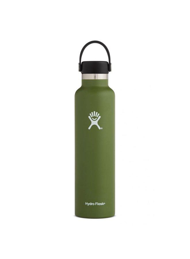 Hydroflask 24 OZ standard Mouth Flex Cap:Olive