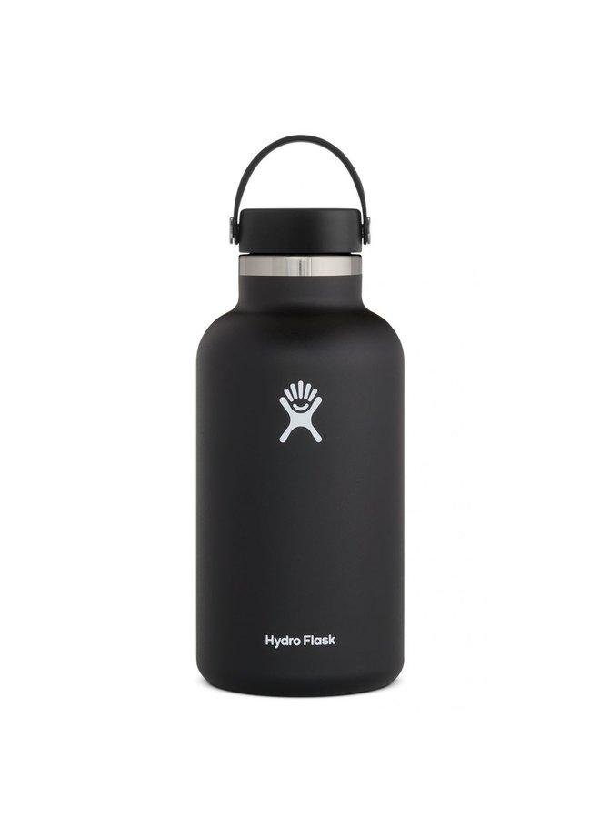 Hydroflask 64 oz Wide  2.0 Flex Cap: Black