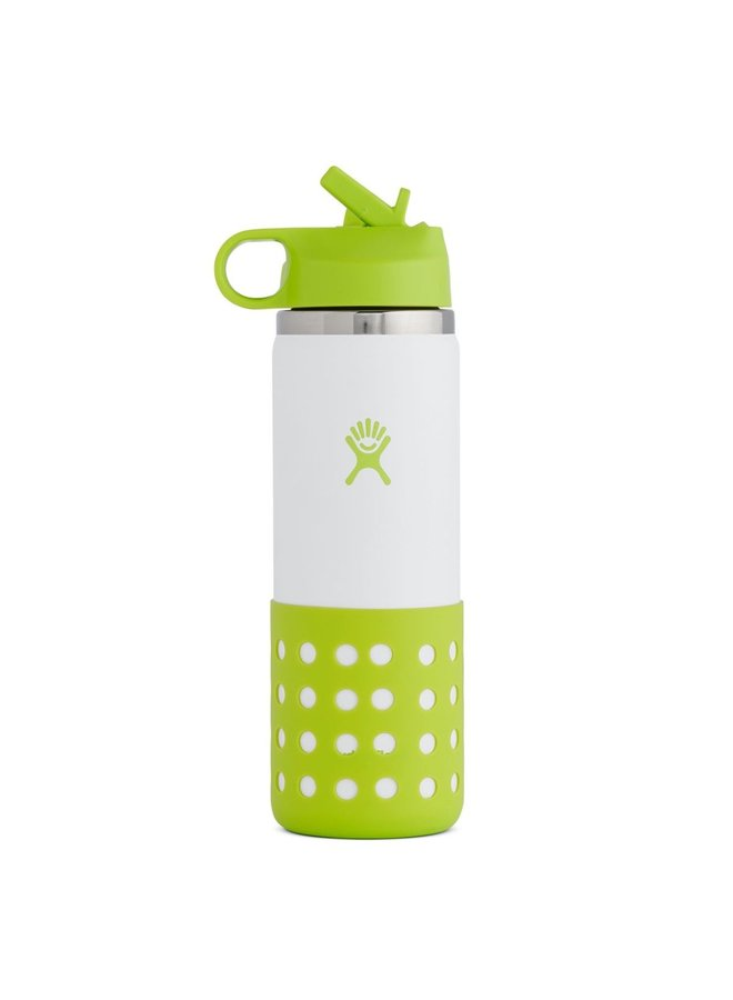 Hydroflask 20 oz Kids Wide Mouth Straw Lid & Boot Jungle