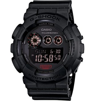 GSHOCK WATCHES BIG CASE BLACK RED GS-GD120MB-1