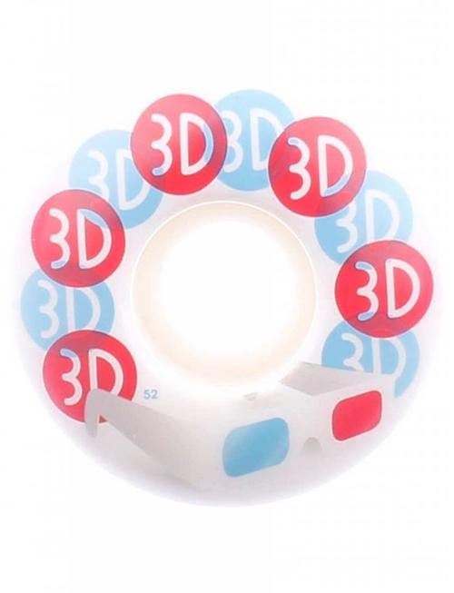 3D WHEELS GLASSES 52MM