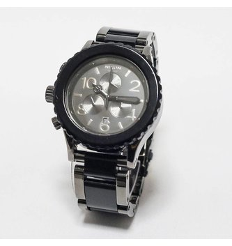 NIXON WATCHES 42-20 CHRONO: GUNMETAL/BLACK