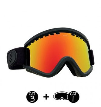ELECTRIC MASHER GOGGLE: MATTE BLACK+BL BROSE/RED CHROME