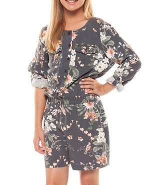 ROLL UP SLV PRINTED ROMPER