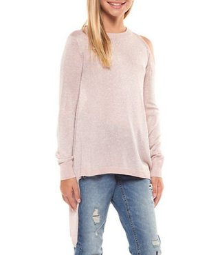 L/SLV ASYMMETRICAL SWEATER