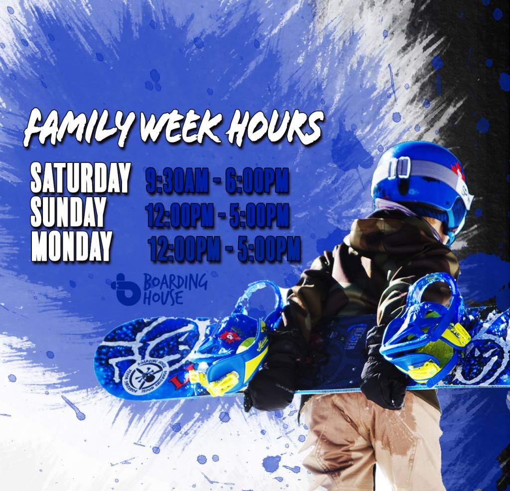 FAMILY WEEK BLOWOUT
