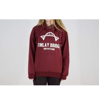 FINLAY BRIDGE OUTFITTERS FB WINE RED HOODIE
