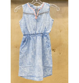 DEX JEANS SLV/LESS WAIST ELASTIC DRESS