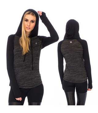 RDS WOMENS 3/4 HENLEY BILLY HOODED