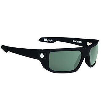 SPY OPTICS MCCOY SOFT MATTE BLACK-HAPPY GREY GREEN
