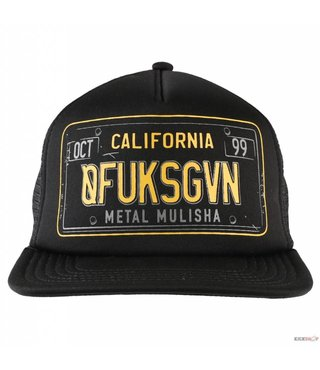 CA PLATE TRUCKER BLACK