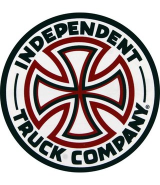 INDEPENDENT DECAL RED/WHT CROSS