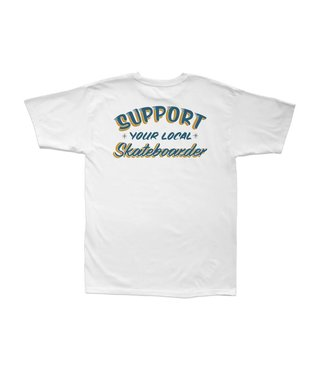 SUPPORT STOCK TEE WHITE SIZE XLARGE