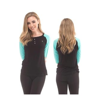 Red Dragon Apparel RDS WOMENS L/S HENLEY HEIDI