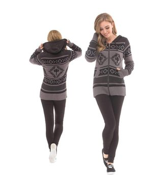 RDS WOMENS ZIP SWEATER EGYPTIAN