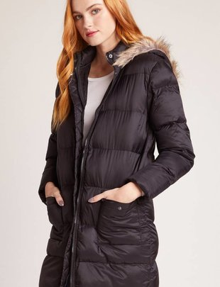 Jack JACK Puff Jacket w/ Fur Hood and Front Pockets