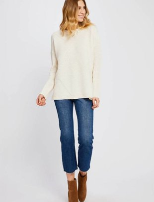 GENTLE FAWN Gentle Fawn Sweater Jude Crew Neck w/ Ribbed Detail and Side Slits